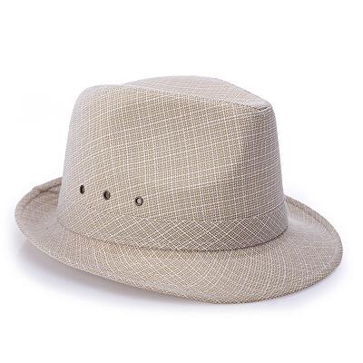 帽薄款春秋季男士礼帽中老年老人男英伦爵士帽爸爸中年人绅士帽子