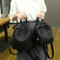 双肩包女韩版迷你菱格新款潮软皮皮百搭女包时尚羊皮小背包