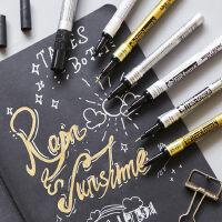 樱花油漆笔白色金银色补漆笔手绘 高光笔记号笔签名笔油性马克笔细