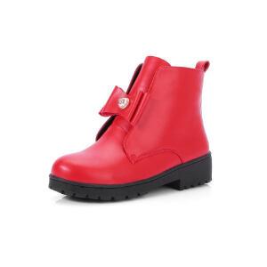 O'SHELL法国欧希尔新品秋冬151-715韩版超纤皮平跟女士雪地靴