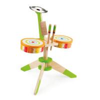Hape动感架子鼓3岁以上创意益智儿童玩具婴幼玩具音乐玩具E0324