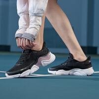 【满99-20】安踏跑鞋女透气轻便潮流时尚2021新款休闲运动跑步鞋122035565