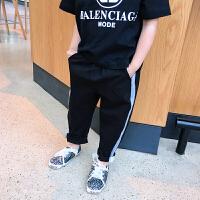 夏季女童黑色裤子儿童女运动裤夏2018韩版新款童装长裤中大童夏装