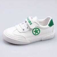 男童鞋子春秋潮运动女童儿童板鞋百搭白鞋小白鞋