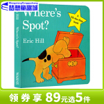 #【现货】 小玻在哪里英文原版绘本 0 3岁 Where is Spot 系列进口翻翻书 Where s is Spo