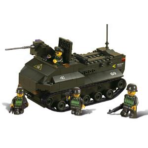 【当当自营】小鲁班陆军部队军事系列儿童益智拼装积木玩具 两栖坦克M38-B6300