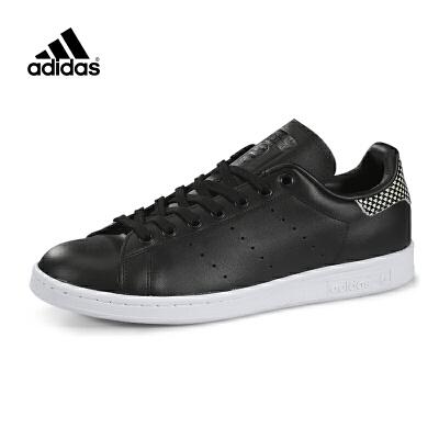 Adidas/阿迪达斯史密斯黑色经典休闲运动板鞋S75318*赔十