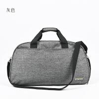旅行包女大号手提出差行李包男短途旅行袋健身包轻便运动包待产包 灰色 -A