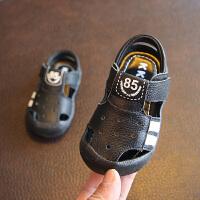 儿童潮春秋黑色宝宝小皮鞋男童0-1-2-3岁软底小童小孩单鞋英伦风
