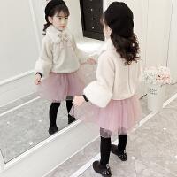 宝宝1一3两2-4到5岁小女孩洋气公主裙子加绒女童秋冬装连衣裙