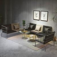 北欧沙发复古工业风铁艺组合办公室工作室接待简约小户型沙发 图片色