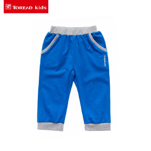 探路者童装儿童短裤 男女童罗纹收口针织七分裤