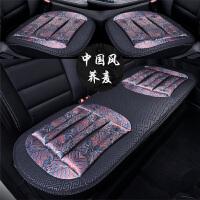 汽车坐垫单片三件套夏季透气布艺荞麦增高车垫子防滑四季通用座垫