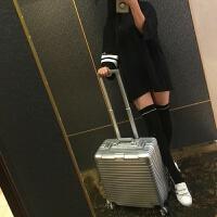 商务18寸拉杆箱电脑箱子登机箱小行李箱短途旅行箱包16/17寸横款 18寸