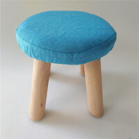 御目 凳子 家用木质圆凳布艺沙发凳换鞋凳成人小板凳