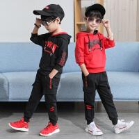 男童运动套装新款儿童春秋季休闲套装中大童卫衣男孩两件套潮