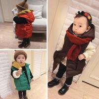 2号直播冬款婴幼儿童装宝宝长款连帽羽绒服马甲外套上衣百搭款