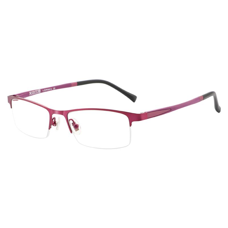 防蓝光防辐射眼镜女近视电脑镜无度数护眼平光镜女商务合金眼镜框 品质保证 售后无忧 支持货到付款
