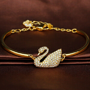 SWAROVSKI施华洛世奇 天鹅女手链水晶质感手镯情人节礼物 5083133