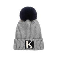 户外防风帽宝宝毛线帽护耳帽可爱大球帽男女孩棉线帽子套头帽