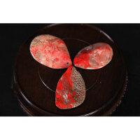 昌化鸡血石挂件三枚 高5.2cm