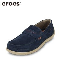 Crocs卡洛驰新品男士低帮休闲舒适轻便领尚沃尔卢麂皮便鞋|15940 领尚沃尔卢麂皮便鞋