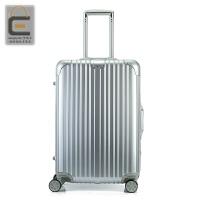 PC拉杆箱铝框万向轮26寸商务旅行箱密码行李箱28寸24寸20男女 银色 铝框