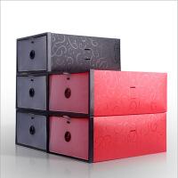 星空夏日 鞋柜式透明鞋盒 女款黑色 黑框