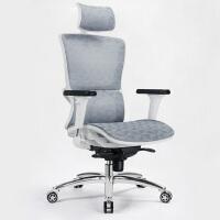 人体工学电脑椅子家用简约升降转椅久坐可躺靠背办公椅座椅老板椅 钢制脚 旋转升降扶手