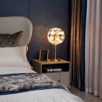 现代全铜轻奢水晶台灯客厅书房卧室床头灯具现代简约灯饰