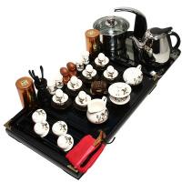 尚帝 八骏马 茶具套装 实木茶盘 功夫茶具 电热壶茶盘套装 TZ-BJ12K003