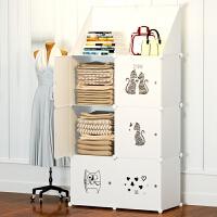 儿童收纳柜小孩衣柜婴儿宝宝家用衣服房间小柜子储物柜收纳省空间 2层