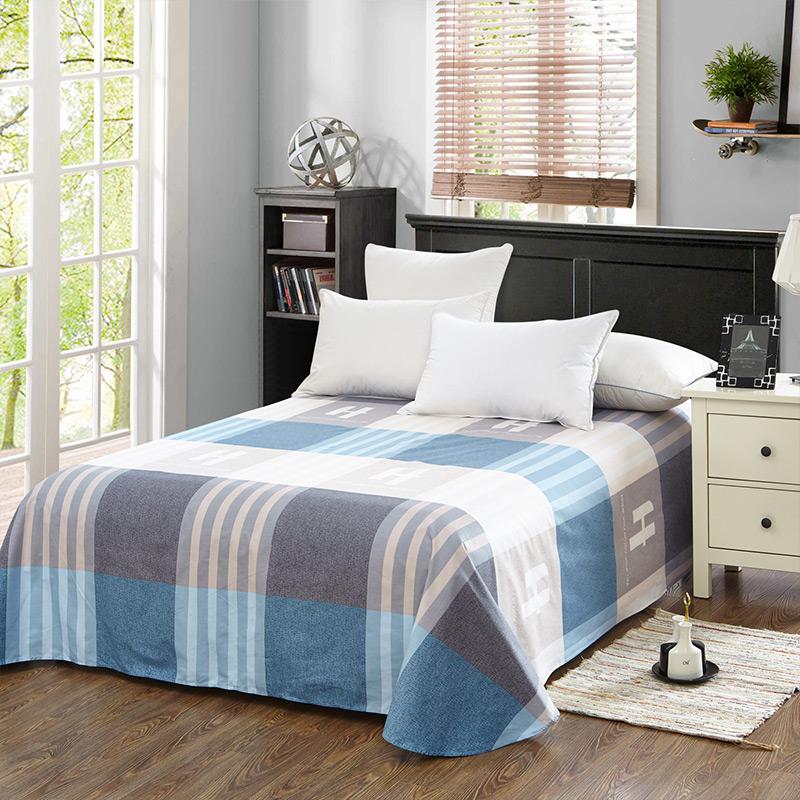当当优品 纯棉斜纹床上用品 床单200*230cm 蓝调空间(蓝)当当自营 100%纯棉 不易褪色 环保印染 透气防潮