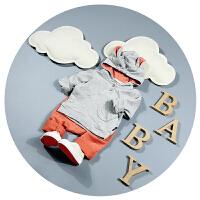 男童卫衣2018新款春秋纯棉0-1岁宝宝春装3-6-9个月外套韩版潮连帽
