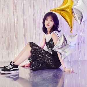 【限时秒杀价65.8】七格格 蕾丝吊带连衣裙黑色白色女夏2018新款外穿韩版中长款性感潮包臀裙