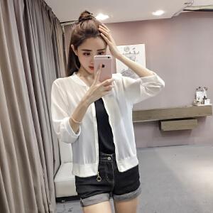【班图诗妮】2018夏新款季韩版雪纺空调衫女薄防晒衣女上衣开衫
