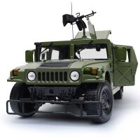 凯迪威军事合金模型悍马越野战地车模型摆饰儿童滑行玩具车模