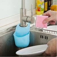 2只厨卫多功能沥水杂物收纳挂袋--天蓝色(JY006-1)