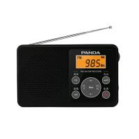 熊猫/PANDA 6105 收音机老人迷你便携式随身听袖珍式半导体 黑色