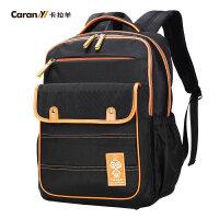 卡拉羊2016新款双肩包男女初中学生书包大容量休闲旅行背包CX5723