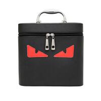 韩版化妆包化妆箱卡通图案化妆包箱收纳包手提化妆箱大容量化妆包 红色