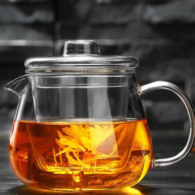 企鹅煮茶壶耐热玻璃茶具加厚过滤花茶壶可加热养生泡茶壶水杯 杯子