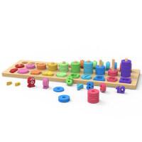 木玩世家儿童玩具数字拼图积木早教益智力开发动脑3男孩女孩1-2岁