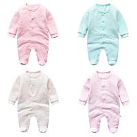 婴儿连体衣服冬季0岁3个月宝宝冬装加厚新生儿衣服外出服
