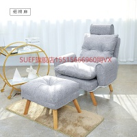 懒人单人沙发阳台休闲椅小户型折叠沙发卧室房间小沙发椅床边躺椅