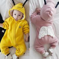 婴儿加绒连体衣纯棉男女宝宝冬装加厚哈衣服6新生儿3个月0岁夏季1