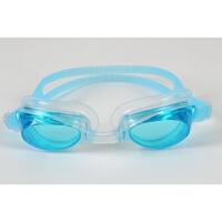 游泳眼镜高清平光防水游泳眼镜 男女通用游 纯色