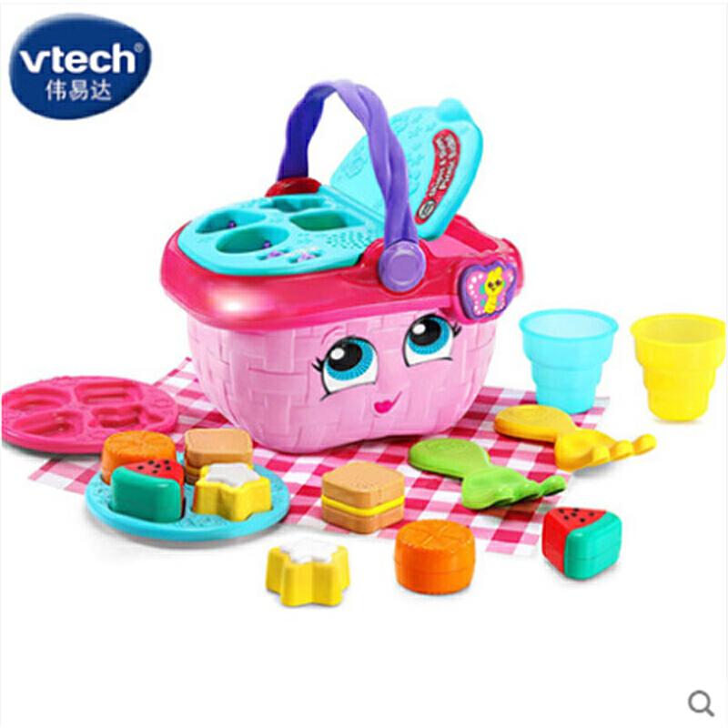 伟易达Little Love儿童女孩音乐声光玩具礼物野餐篮收纳篮购物篮 3个学习模式 让宝宝学会收纳