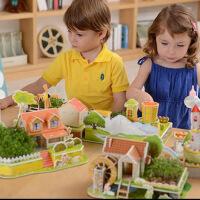 3d立体拼图儿童拼装手工diy制作女孩种植3-6周岁7创意4益智力玩具