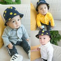 婴儿童加绒衬衫秋季新韩版上衣童衬衣新生儿秋冬装新年